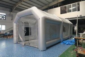 26x13x10ft Inflatable Spray Paint Booth Custom Tent Car Filtration System Fan