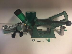 rcbs rock chucker reloading press  With Extras