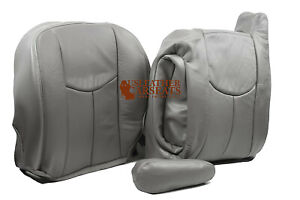 2003 Chevy Silverado Tahoe Suburban Driver Side Complete Leather Seat Cover Gray