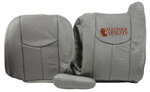 2003 2004 Gmc Sierra Yukon Tahoe Driver Side Complete Leather Seat Cover Gray