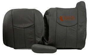 03 07 Chevy Silverado Lt Hd driver Side Complete Leather Seat Covers Dark Gray