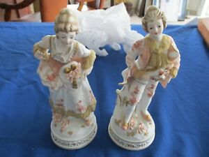 French Bisque Porcelain Figurines