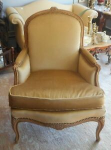 Vtg French Provincial Louis Xv Bergere Style Chair Armchair Free Local Delivery