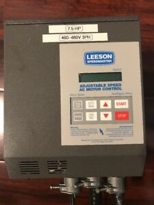 Leeson Speedmaster Adjustable Speed Ac Motor Control 7 5hp 460 480v 3ph