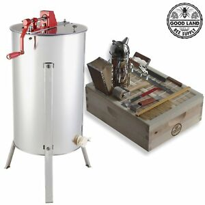 Goodland Bee Supply 2 Frame Honey Extractor With Complete Beginners Bee Hive Too