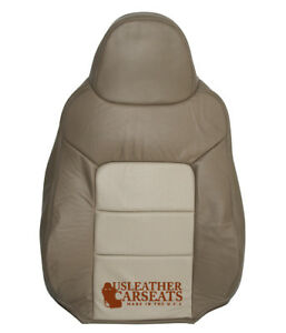 2004 Ford Expedition Eddie Bauer Driver Lean Back Leather Seat Cover 2 Tone Tan