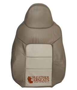 2003 2006 Ford Expedition Driver Lean Back Perforated Leather Seat Cover Tan