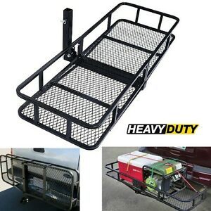 Trailer Hitch Mount Cargo Rack Basket Luggage Carrier Fits For 2 Fixed Receiver