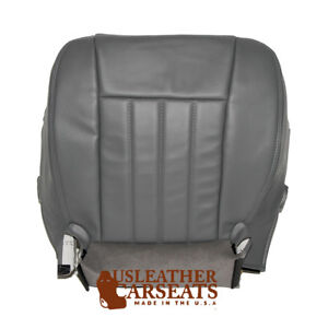 2006 2009 Dodge Dakota Driver Side Bottom Synthetic Leather Seat Cover Gray