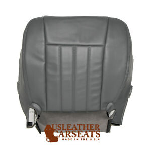 2006 Dodge Dakota Driver Bottom Replacement Synthetic Leather Seat Cover Gray