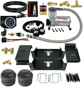 Towing Level Rear Air Spring Kit With In Cab Control 1980 97 F250 3 4 Ton 4wd