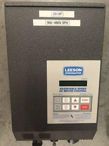 Leeson Speedmaster 174561 00 Adjustable Speed Ac Motor Control 20hp 460 480v