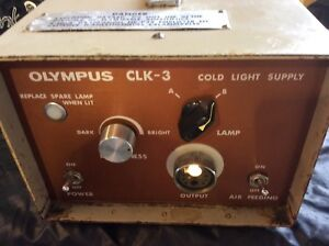 Olympus Clk 3 Halogen Light Source Endoscopy Air Supply Tested Working