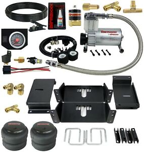 Towing Air Bag Suspension Kit With In Cab Control 1980 1997 Ford F350 4wd Truck