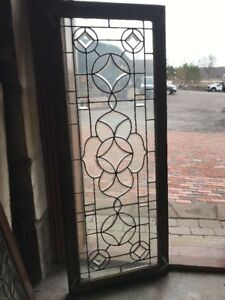 Sg 1943 Antique Beveled Glass Leaded Window21 X 52 5