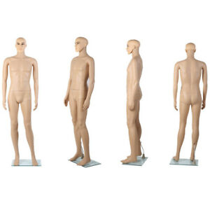 Male Full Body Mannequin W Metal Stand Plastic Full Body Realistic