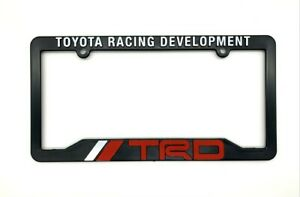 Trd Toyota Racing Development License Plate Frame Black Red White