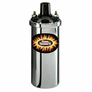 Pertronix 40001 Flame Thrower 12v Chrome Coil 1 5 Ohm 40000 Volts Oil Filled