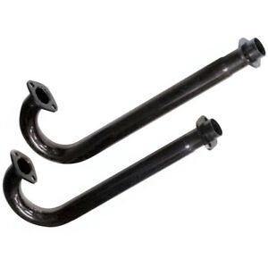 Empi 3420 Flanged Black J Tubes For Vw Type 1 Exhaust Systems 1300 1600cc Pair
