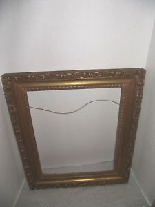 Large Antique Ornate Wooden Picture Frame 21 1 2 X 25 3 4 1950s 60s