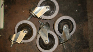 lot Of 4 Pre owned Algood Casters With Brakes
