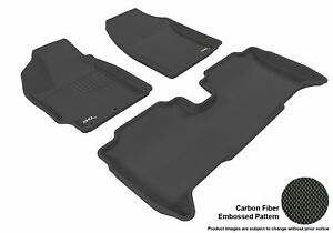 Fits 2013 2014 Scion Xd Row 1 2 Kagu Carbon Pattern Black Customize Floor Mat