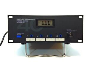 Teledyne Hastings Model 40 4 channel Power Supply Display For Mass Flowmeters