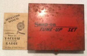 Vtg Snap on Red Metal Tool Storage Tune up Set Case Box 12 10 2 Original