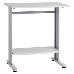 6461 18 Standup Height Workstation W bevelled Edges Grey