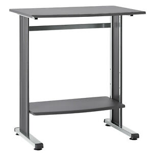 6461 36 Standup Height Workstation W bevelled Edges Charcoal
