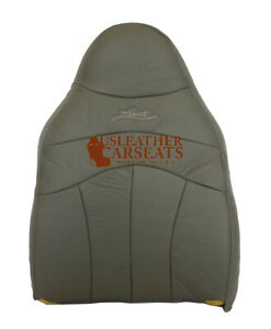 2001 2002 2003 Ford F150 F 150 Lariat Driver Lean Back Leather Seat Cover Gray