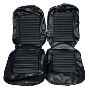 Mustang Upholstery Front Bucket Seats Black Standard Int Cp Cv Fb 66