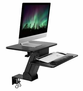 Mount it Sit Stand Desk Converter Height Adjustable Tabletop With Clamp