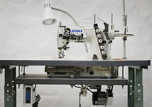 Juki 3 Needle Coverstitch Machine W Professional Table Servo Motor mf 7523