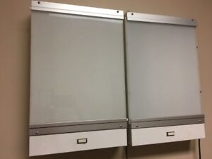 Two X ray Viewers Used 14 x 21 5