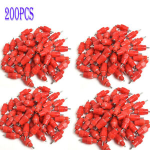 200 Pieces Chicken Water Nipple Drinker Feeder Poultry Duck Hen Screw In Style