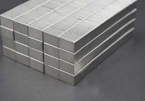 500 Square Magnets 3 4 X 1 2 X 1 16 Strongest N52 Neodymium Us Seller