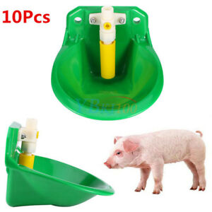 10xautomatic Drinker Waterer For Sheep Cattle Pig Piglets Livestock Water Drinke