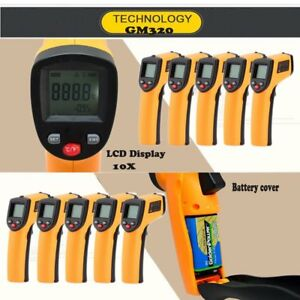 10x Temp Meter Temperature Gun Non contact Digital Laser Infrared Ir Ew