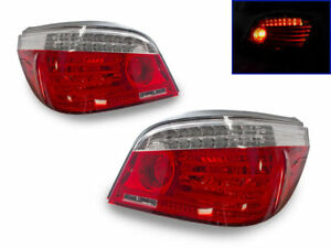 Depo Facelift Led Light Bar Red clear Tail Lights For 2004 2010 Bmw E60 5 Series