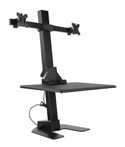 Mount it Electric Standing Desk Converter Motorized Sit Stand With Duo Motor