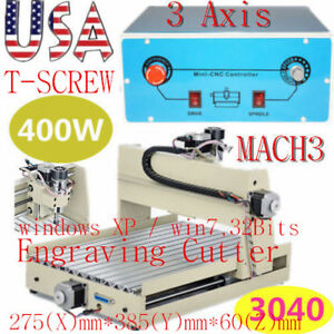400w 3 Axis 3040 Cnc Router Engraver Mach3 Wood Cutter Engraving Milling Machine