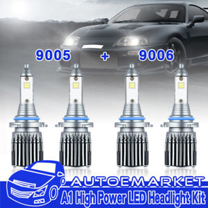 9005 9006 Combo Led Headlight Bulbs For Honda Civic 2004 2013 High