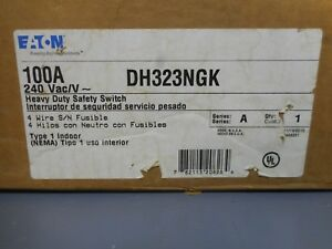 Eaton Dh323ngk 100 Amp 240 Volt Fusible Indoor Safety Switch Disconnect
