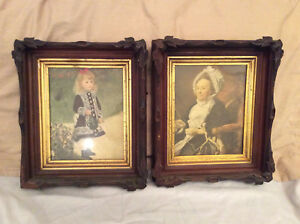 Vintage Eastlake Frames 2 Carved Wood Picture Frames 14 H X 12 W