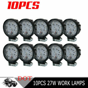 10x 48w Led Work Spot Light Waterproof 12v 24v For Offroad Truck Suv Jeep Ford