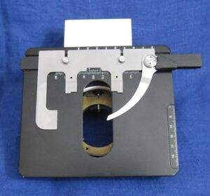 Lomo Belomo Olympus Stage With Slide Holder And Support Condenser To Microscope