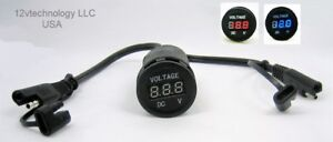 Inline Sae Cable Voltmeter Fits Battery Tender Systems Chargers Monitors Voltage