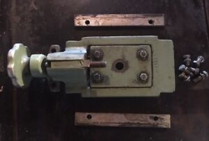Vintage Wells Metal Cutting Band Saw Blade Tension Slide Block Assembly