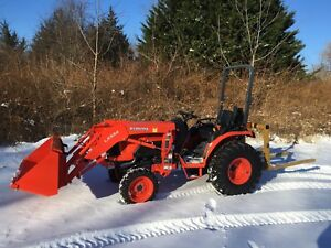 2016 Kubota B2650 4x4 Compact Utility Tractor W Loader Hydro 26hp 27 Hours